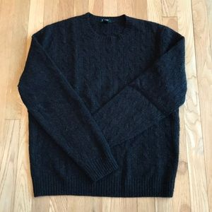 J Crew men's cashmere sweater, dark gray, large